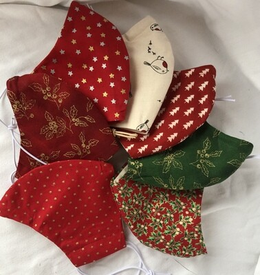 Christmas Print 100% cotton Face Mask was £12.50 all now £5 while stocks last