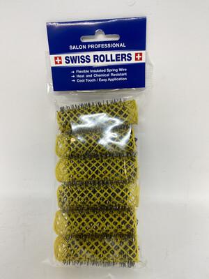 Original Swiss Brush Rollers 20mm Yellow (6 per pack)