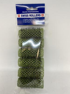 Original Swiss Brush Rollers 25mm Green (6 per pack)