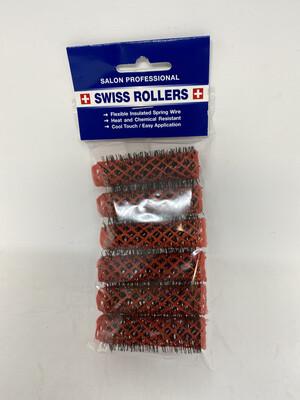 Original Swiss Brush 16mm Rollers Coral (6 per pack)