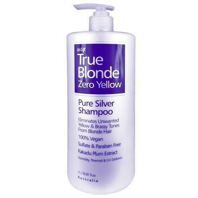 Hi Lift True Blonde Zero Yellow Pure Silver Shampoo - 1 Litre