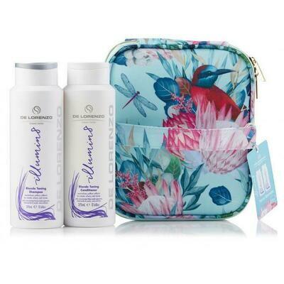 De Lorenzo Illumin8 Shampoo & Conditioner With Bonus Vanity Case (2 X 375ml)