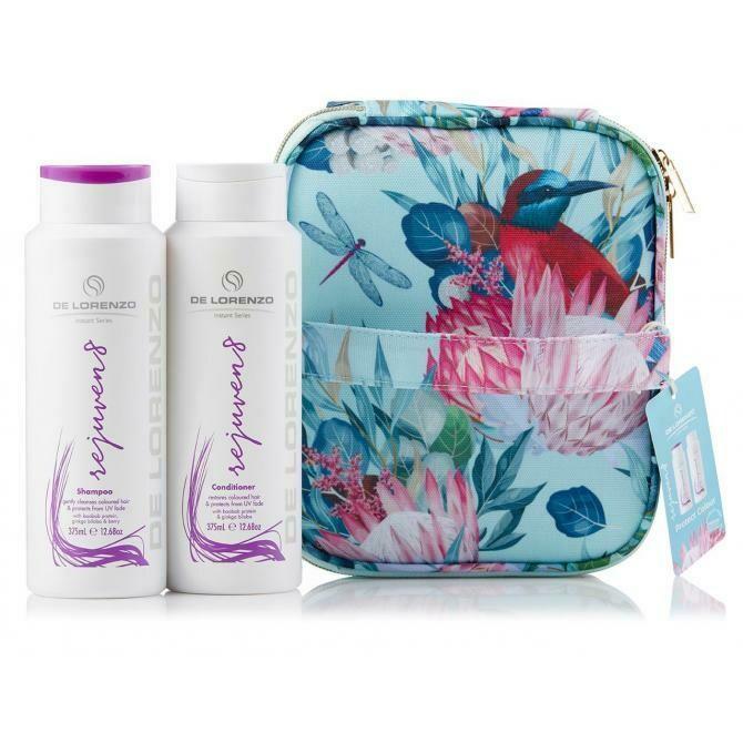 De Lorenzo Rejuven8 Shampoo & Conditioner With Bonus Vanity Case (2 X 375ml)