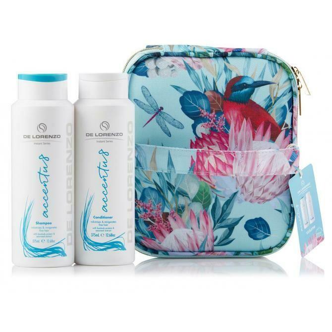 De Lorenzo Accentu8 Shampoo & Conditioner With Bonus Vanity Case (2 X 375ml)
