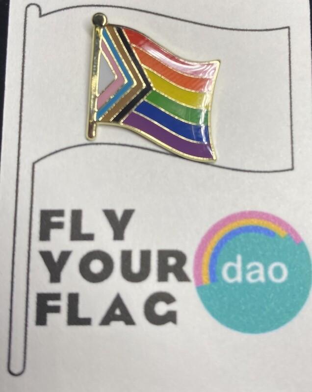 Progressive Pride Flag - Enamel Pin