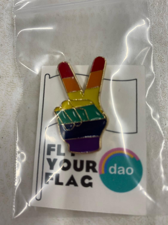 Pride Peace Sign - Enamel Pin