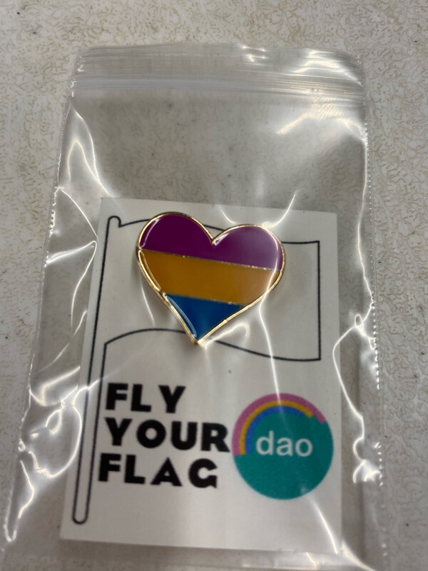Pan Flag Heart - Enamel Pin