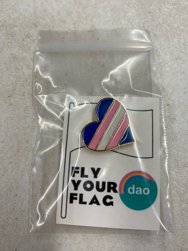 Trans Flag Heart - Enamel Pin