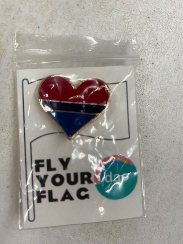 Bi Flag Heart - Enamel Pin