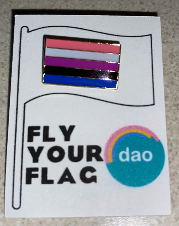 Genderfluid Flag - Enamel Pin