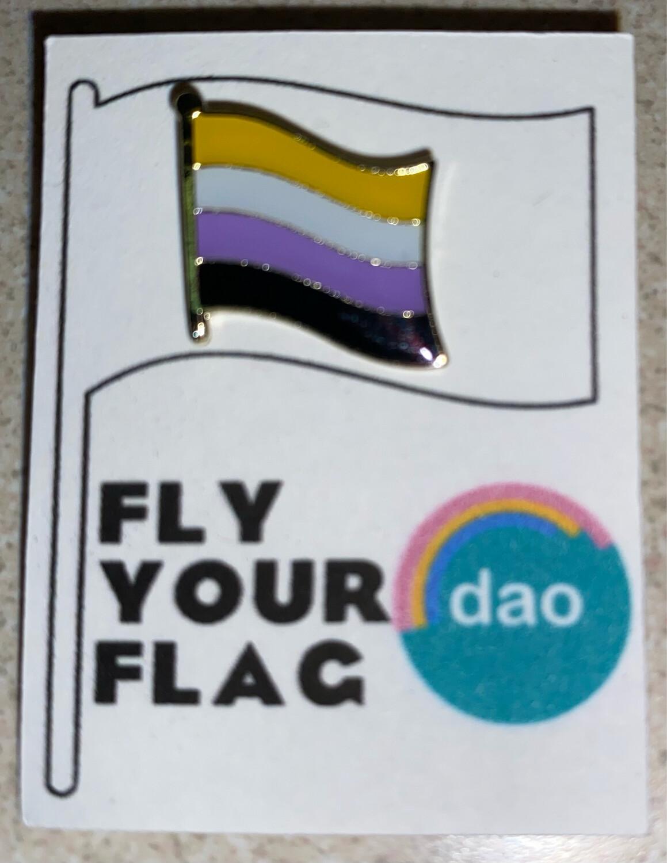 Non Binary Flag - Enamel Pin