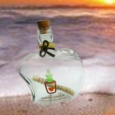 Message in a Bottle ( Apple Shape )