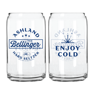 Beer Can Pint Glasses (2 pack)