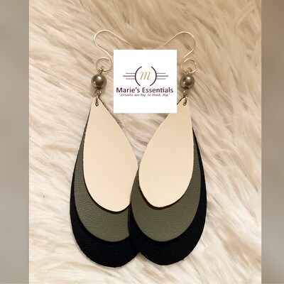 """No More Tears"" Faux Leather Earrings"