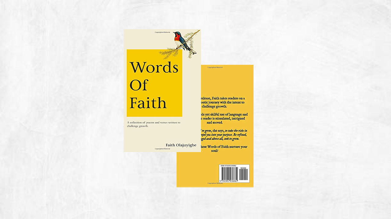 Words of Faith [Signed Poetry Book]