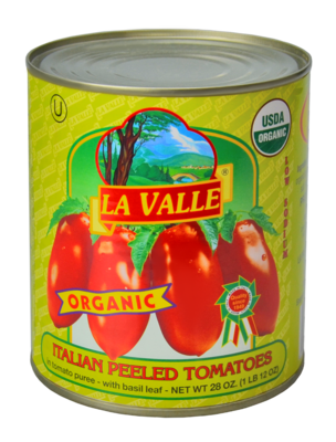 6/28oz of La Valle's Organic Italian Peeled Tomato