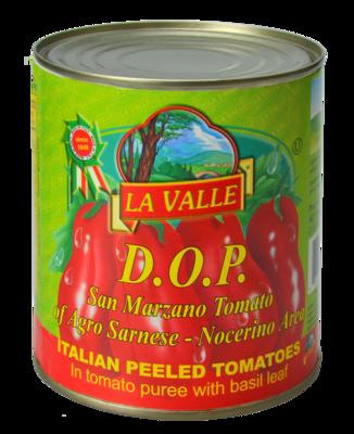6/28oz of La Valle's D.O.P. San Marzano Italian Peeled Tomato
