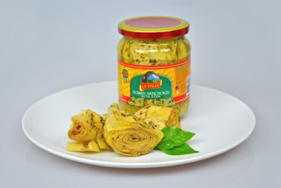 6/19oz jars of La Valle's Artichokes with Stem