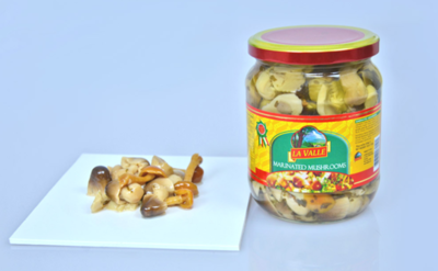 6/19oz jars of La Valle's Marinated Mushrooms
