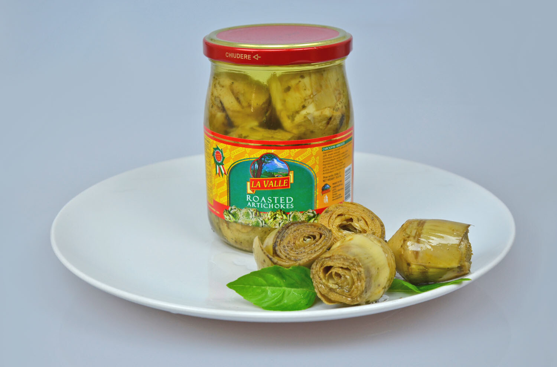 6/19oz jars of La Valle's Roasted Artichokes