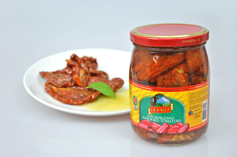6/19oz jars of La Valle's Sundried Tomatoes