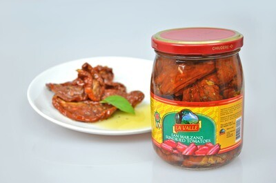 6/19oz jars of La Valle's Sundried Tomatoes
