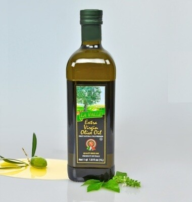 12/1LT Bottles of La Valle's Extra Virgin Olive Oil