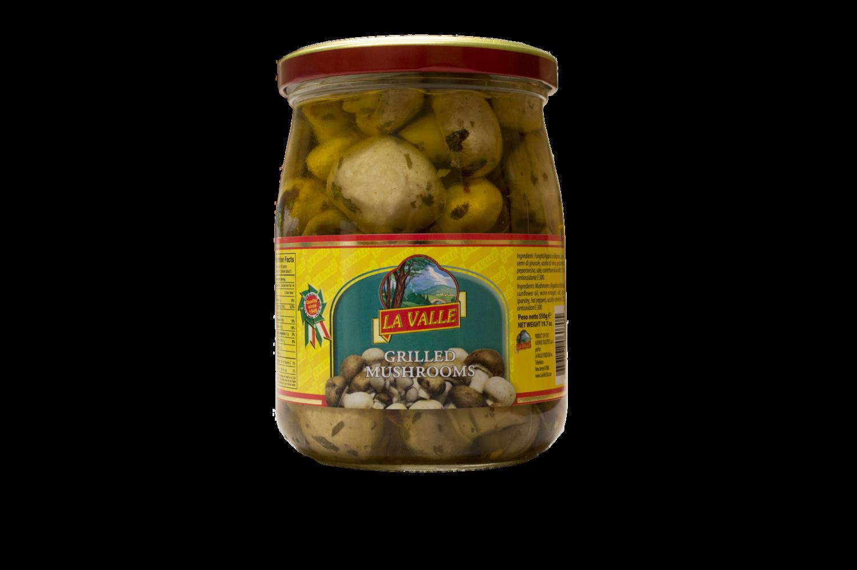 6/19oz jars of La Valle's Grilled Mushrooms