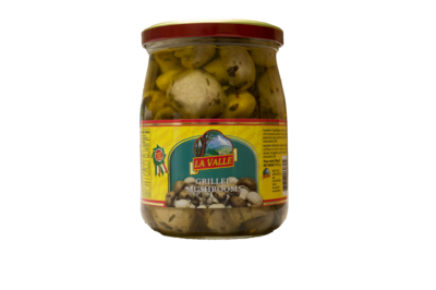 6/19oz jars of La Valle's Grilled Mushrooms