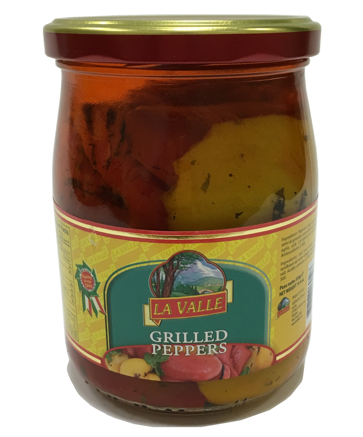 6/19oz jars of La Valle's Grilled Peppers