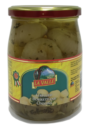 6/19oz jars of La Valle's Grilled Borrettane Onions