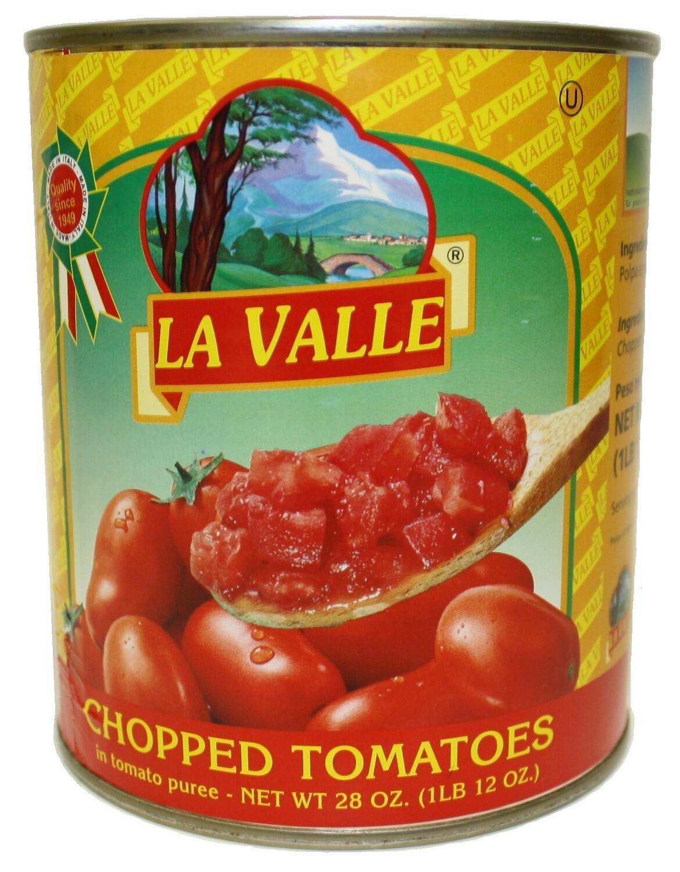 6/28oz of La Valle's Chopped Tomato