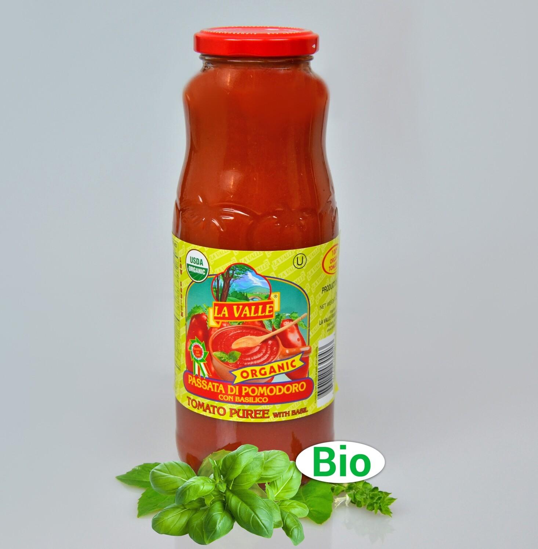 12/24oz La Valle's Organic Tomato Puree