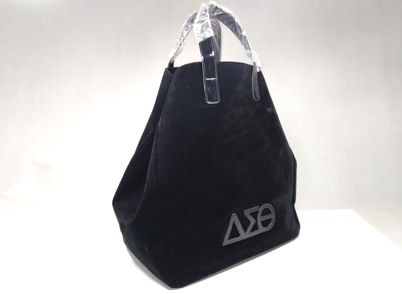 Tote Bag - Black Classy Velveteen