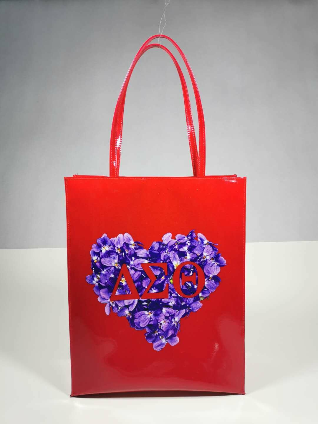 Tote Bag - Red Patent Violet Heart (BOGO-2)