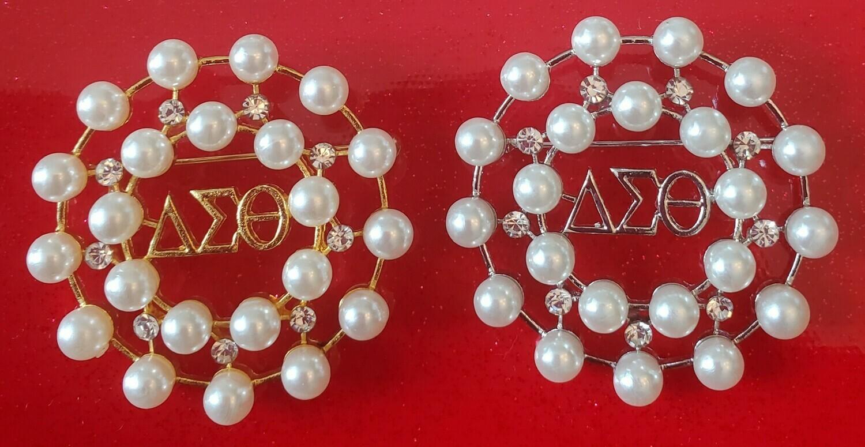 Pearl & Crystal Circle Lapel (BOGO-2)