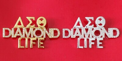 Diamond Life Crystal Lapel
