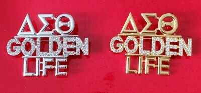 Golden Life Crystal Lapel