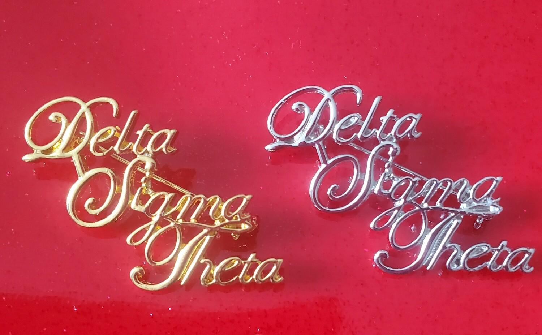 Cursive Delta Sigma Theta Lapel