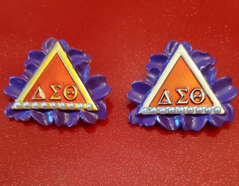 African Violet Triangle Lapel (BOGO-2)