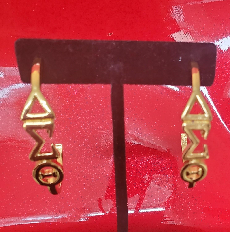 Vertical Symbol Earrings -Gold