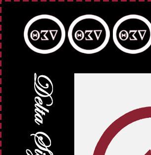 DST Color Block Scarf - White Symbols & Script Lettering