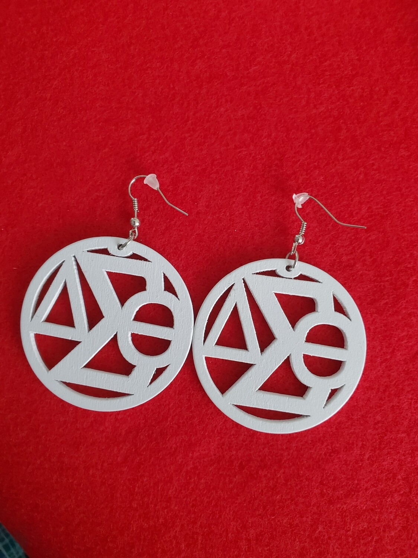 Wooden Symbol Earrings