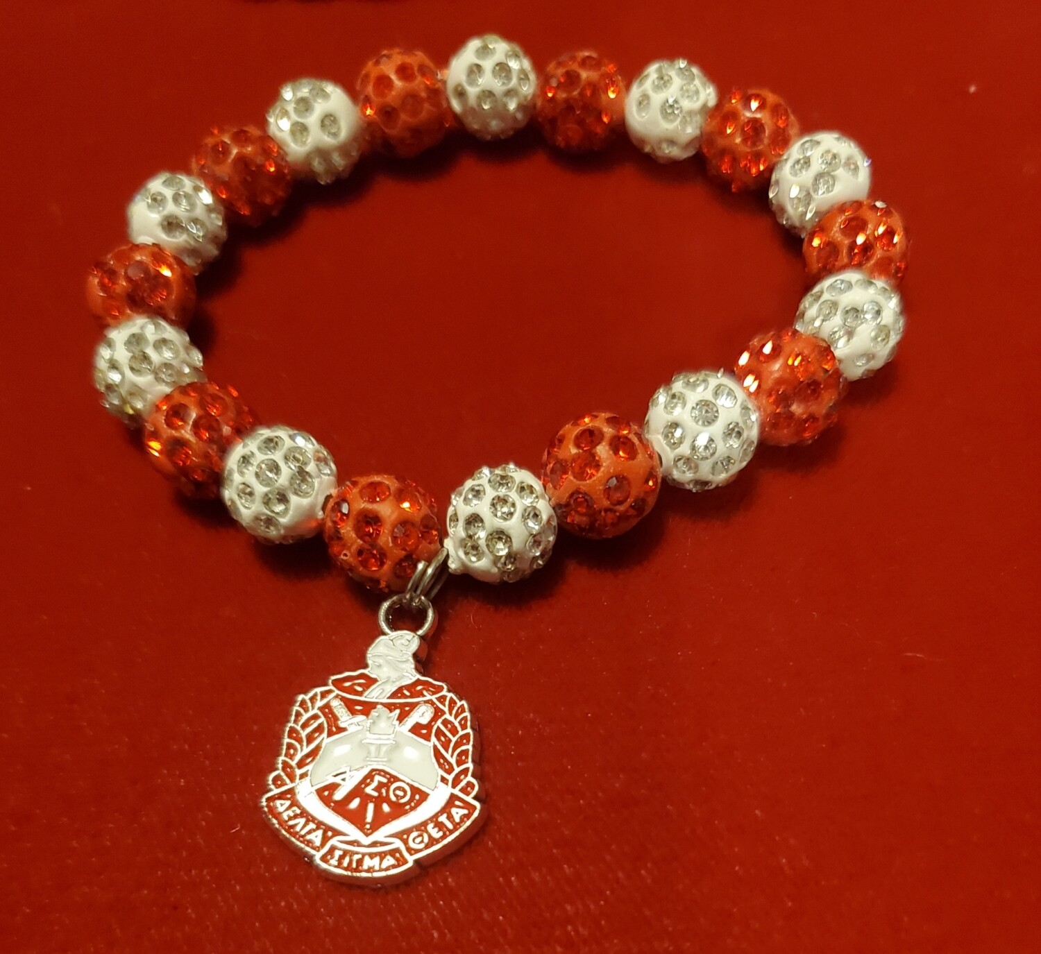 DST Bling Bead Bracelet with Shield Charm