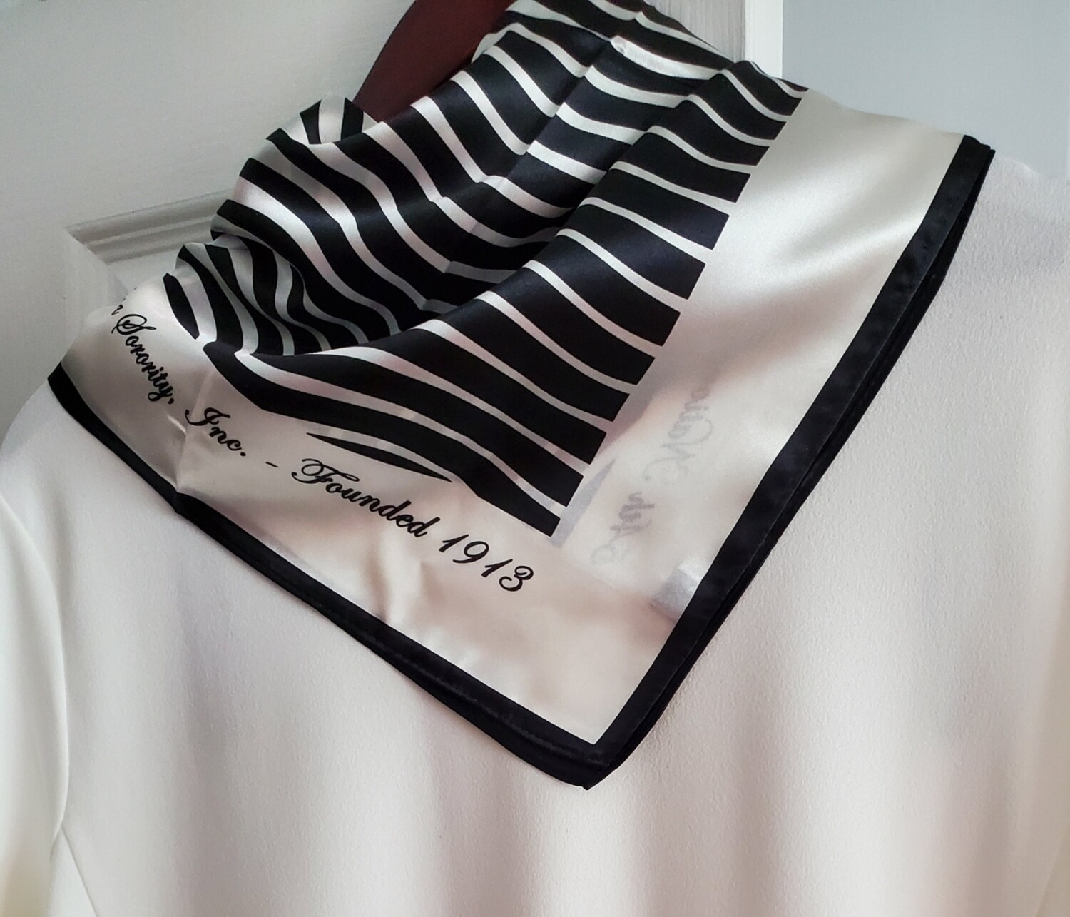 DST Square Striped Scarf