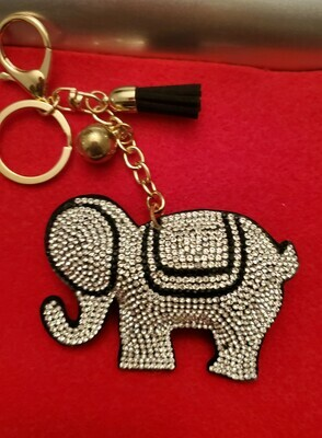 ELEPHANT - BLING PURSE CHARM