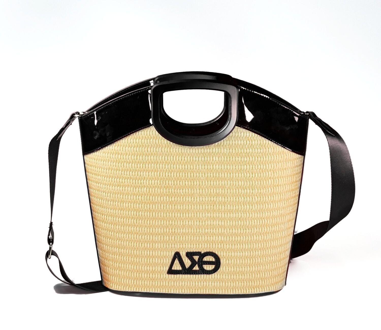 DST 2021 Straw Summer Handbag - Black