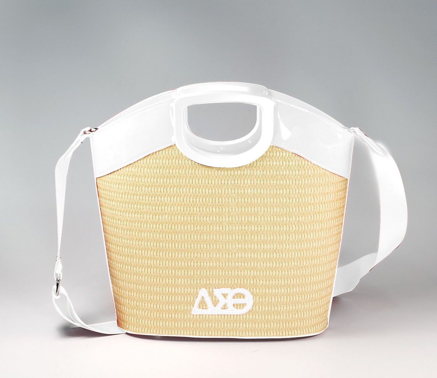 DST 2021 Straw Summer Handbag - White PRE-ORDER - Mid May Delivery