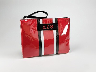 Red Striped Wristlet - Pre-Order May 30 Delivery