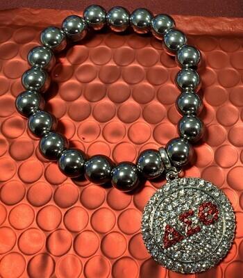 Bracelet - Bling Red Symbol - Silver